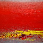 Contemporary art, Barbara Goldberg art, Sunrise on Linen